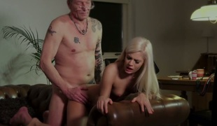 Mature man fucks beautiful blonde girl Candee Licious