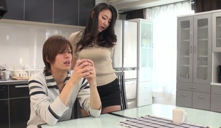Saucy Jap girl Yuri Honma screwed bad in a missionary position