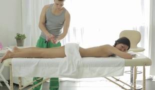 amatør tenåring massasje