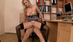 Blonde Tanya Tate has dick-hungry cum-hole and takes care about dudes erect cock