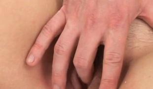 amatør barbert naturlige pupper anal hardcore blowjob fingring par lubben nærhet