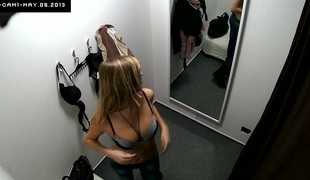 Here's spying eradicate affect changing rooms! We shot at 2 security cameras hidden in cabins of an underclothing shop. Beautiful Czech beauties fitting on bras, pants and sexy lingerie out of calmness eradicate affect slightest idea they are gross wa