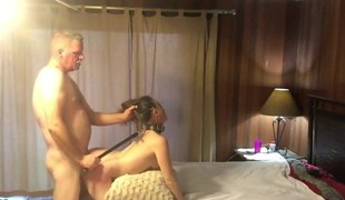 Hawt submissive MILF getting pounded and spanked