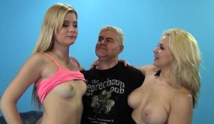 virkelighet blonde hardcore pornostjerne blowjob trekant
