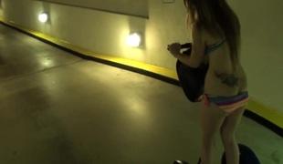 Dilettante girlfriend in bikini fucked into ass