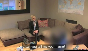 Stockinged british non-professional in sex auditions