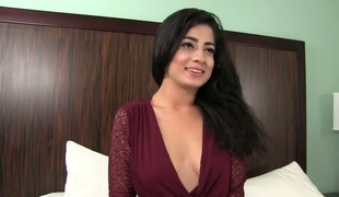 Slutty hotty Nadia Ali drilled brutally in a doggy position