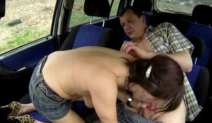 Czech mother I'd like to fuck Hooker Drilled in Car