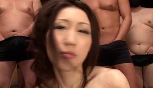 gangbang store pupper japansk bukkake