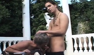 Kinky mature lady seizes the chance to have wild sex with a youthful dude