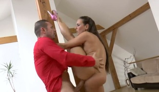 David Perry stretches ultra sexy Mea Melones mouth with his sturdy tool to the restriction after that babe takes it in her back yard