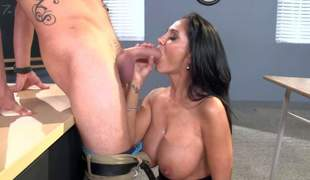 Ava Addams is a slutty MILF teacher with flawless large boobs, She bares her giant hooters with the addition of gets down on her knees before her student finds his dick sucked. This passionate large titted lady fucks like a 1st rate hoe!
