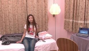 Blameless Japanese angel gets her first taste of dick