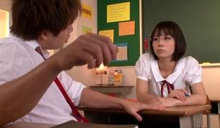 Nippon schoolgirl fucked and jizzed at school