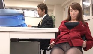 Yui Hatano is always ready to have from behind sex in the office!