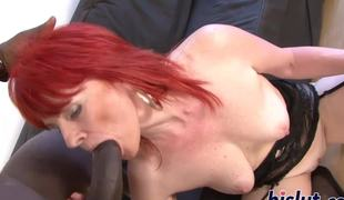 Mature redhead slut has her snatch permeated