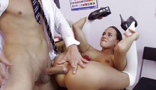 Classroom anal fucking for dirty schoolgirl Mea Melone