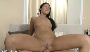 Hardcore anal copulating with her new paramour from east