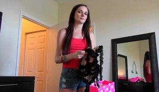 rype amatør synspunkt tenåring naturlige pupper puppene brunette lingerie kjæresten slem