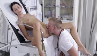 Andrea is a skinny honey that is at the doctors office. She is having her snatch examined by his tongue and that babe acquires snatch licking done. This guy makes sure that it works properly.