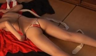 tenåring sjarmerende tynn søt vakker lingerie truser små pupper erotisk asiatisk