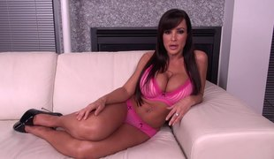 Shiny high heels on sexy hardcore milf slut Lisa Ann