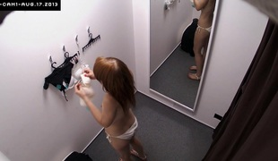 Here is spying be passed on changing rooms! We've 2 security cameras shut in cabins of an underwear shop. Beautiful Czech angels fitting on bras, pants and hawt lingerie get a kick from even be passed on slightest idea they are being watched. Now