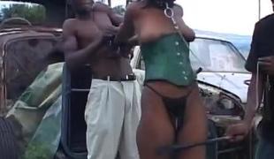 Sadomasochism HornyAfrican Tenn Abused Hot Threesome