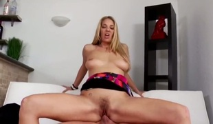 Blonde Jordan Kingsley cant resist the desire to take stiff love stick in her mouth : the best video Pornalized.com