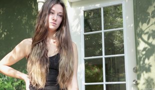brunette langt hår hardcore pornostjerne historie par
