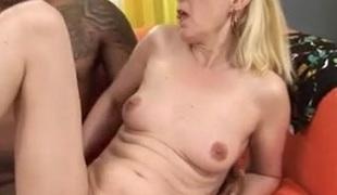 Blonde Granny Fucks Black Cock