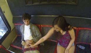 virkelighet tenåring vakker blowjob sædsprut ridning ass små pupper offentlig handjob