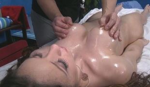 Gal is full of lusty needs after receiving a sensual massage