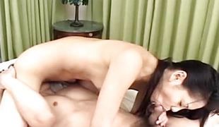 sjarmerende søt blowjob kjæresten ass fitte våt hårete asiatisk japansk