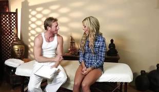 blonde blowjob sædsprut massasje sucking