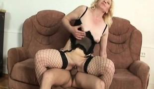blonde hardcore blowjob lingerie strømper