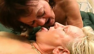 Matures Amanda and her friend double team Attila in a 3some