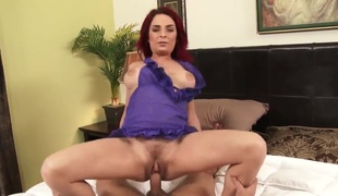 Ashlee Graham is a horny wife that is caught by her spouse enjoyable herself. The biggest booty is then joined by her hubby in the bed and this babe gets her pussy stretched.