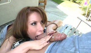 Lalin girl is giving a blow job
