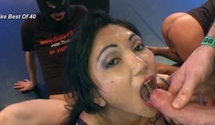 Asian cum guzzling slut fucked