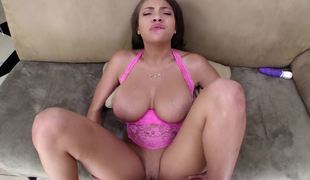 Cassidy Banks titjob is perfect foreplay in advance of he bonks her