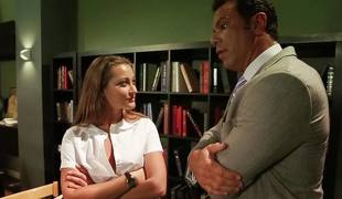 Dani Daniels fools around with her teacher