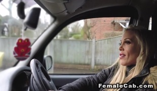Biggest titties female cab driver fucks customer