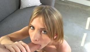 Blonde Sean Lawless shows her naughty parts