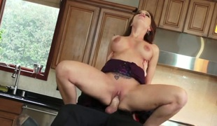 Evan Stone stuffs his fuck stick in sultry Britney Ambers throat