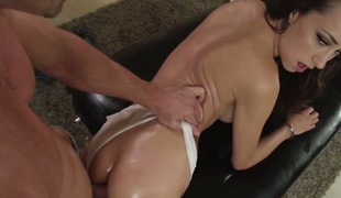 Johnny Sins is one hard-dicked stud who loves oral sex with Victoria Rae Dark